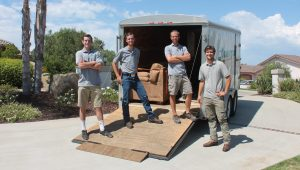 Four Spry Movers Employees